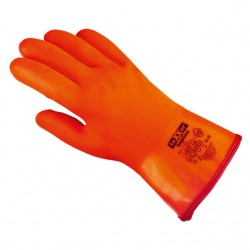 Winter-PVC-Handschuhe, Stulpe, orange