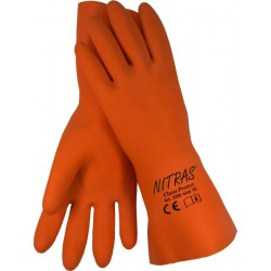 "Latex-Haushaltshandschuhe, orange ""Chem Protect"""